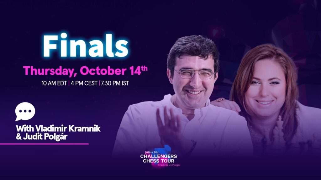 Kramnik and Polgar are back for commentary